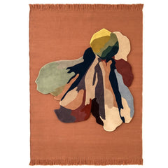 Nanimarquina Flora Bloom 1 Rug with Colors Rug in Blush