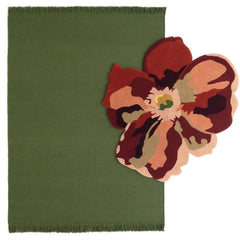 Nanimarquina Flora Bloom 2 with Colors Rug in Basil