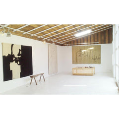 Eduardo Chillida Mano Rug in Art Gallery with Collage Rug NaniMarquina