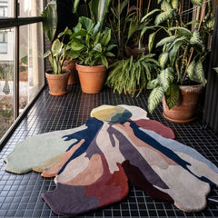 Nanimarquina Flora Bloom 1 Rug in Barcelona Sunroom with Plants