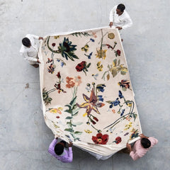 Nanimarquina Flora Promenade Rug by Santi Moix with Makers Aerial View