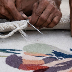 Nanimarquina Flora Rug being made by hand