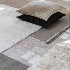 Nanimarquina Ilse Crawford Wellbeing Kilim and Mazari Floor Cushions with Rugs