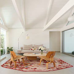 Nanimarquina Losanges Rug in Eichler Twin Gable House architect Ryan Leidner Joe Fletcher Photography