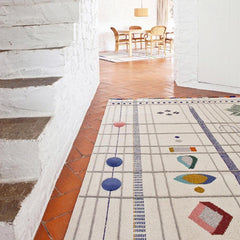 Nanimarquina Rabari rug by Doshi Levien in Barcelona home
