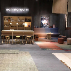 Nanimarquina Shade poufs and rugs at Salone di Mobile 2018