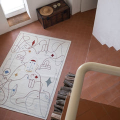 Nanimarquina Silhouette Rug by Jaime Hayon in Living Room.