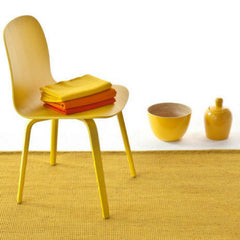 Nanimarquina Tatami Rug Yellow In Room with Chair