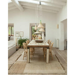 NaniMarquina Tres Vegetal Rug in Dining Room