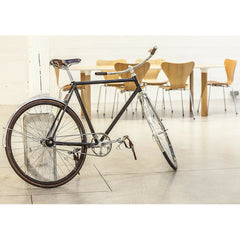 Walnut Series 7 Chairs with Analog Table and Velobis Bike