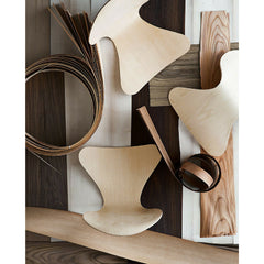 Series 7 Chairs and Wood Veneer Strips Aerial View Fritz Hansen