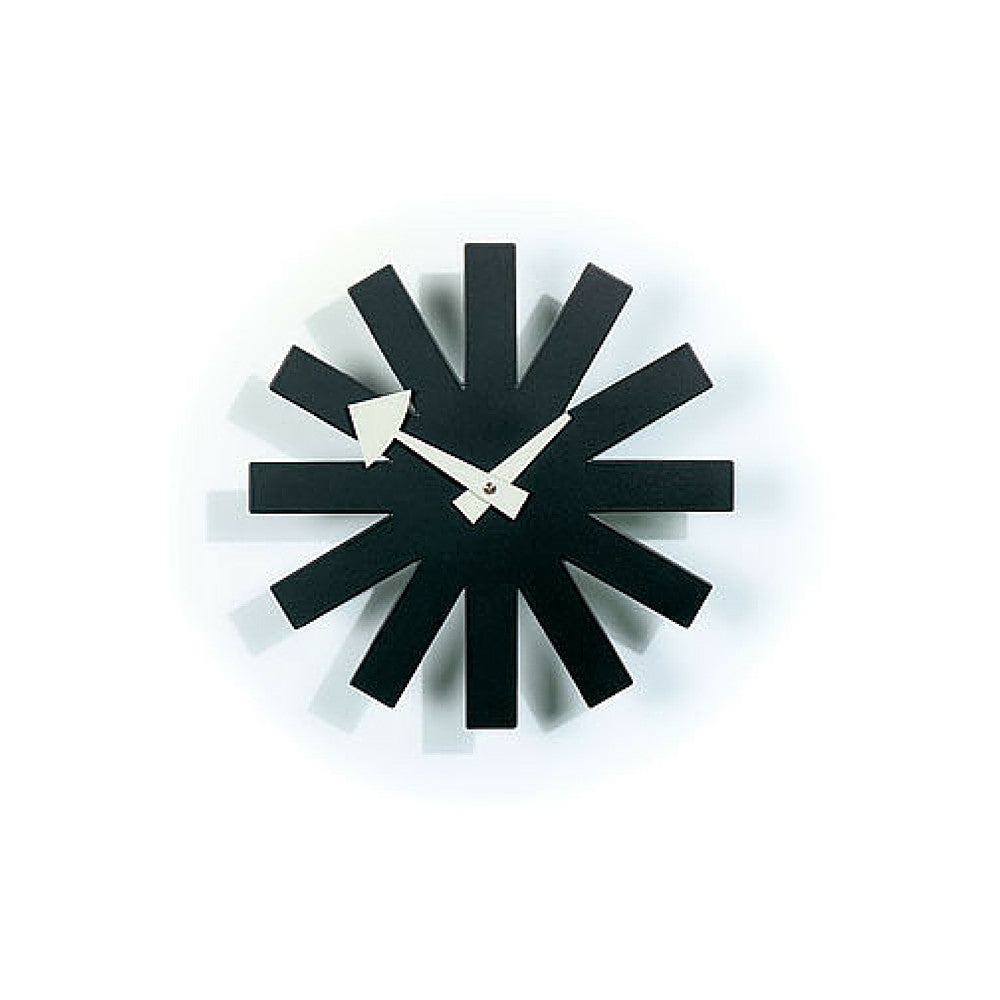 Nelson Asterisk Clock Black and White Vitra