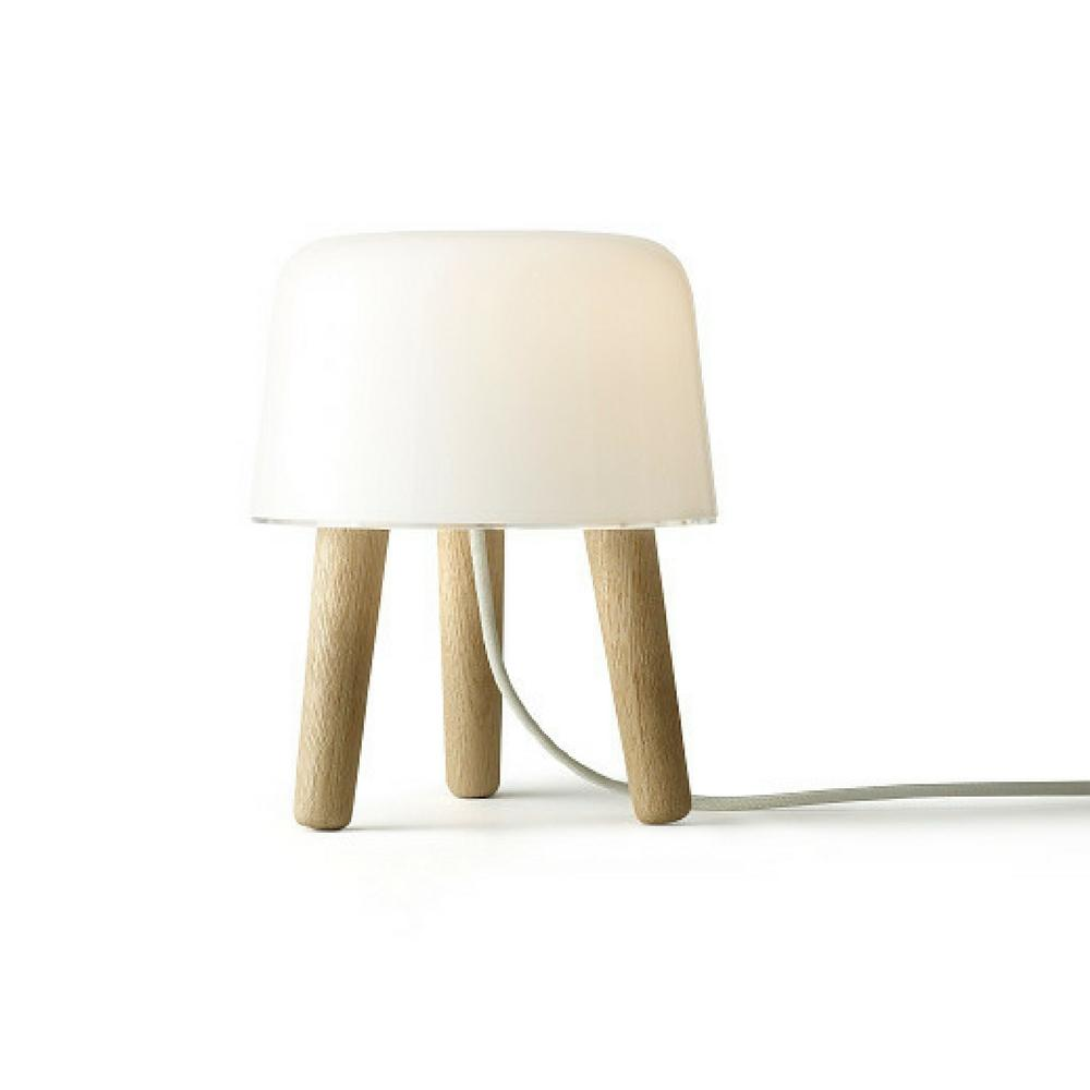 Norm Architects Milk Table Lamp with White Cord &Tradition Copenhagen