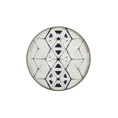Notre Monde Small Light Aged Mirror Tribal Hexagon Tray