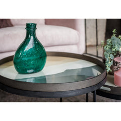 Notre Monde Wabi Sabi Slate Tray with Green Bottle