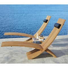 Nozib Sun Loungers with Marrakech Table by Skargaarden
