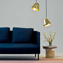 Nyta Brass Tilt Pendants by Dark Blue Sofa