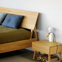 Oak Air Bedside Table by the Oak Air Bed by Ethnicraft