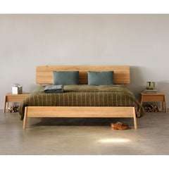 Oak Air Bed with Air Bedside Tables by Ethnicraft