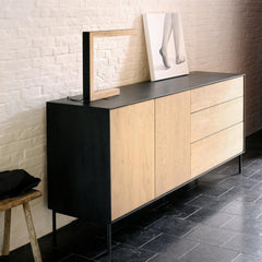 Oak Blackbird Sideboard with 2-Doors + 3-Drawers by Ethnicraft