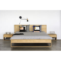 Oak Nordic II Bed with Nordic Bedside Tables by Ethnicraft