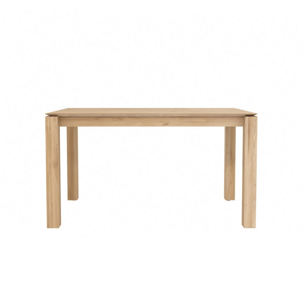 Oak slice extendable dining table ethnicraft modern furniture palette parlor - Oak extendable dining table ...