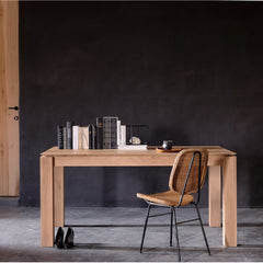Small Oak Slice Extendable Dining Table by Ethnicraft in Room