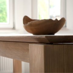 Ethnicraft Oak Slice Extendable Dining Table Details