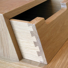 Oak Treviso Desk Drawer Detail Matthew Hilton for Ercol
