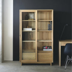 Oak Wave Book Rack by Ethnicraft