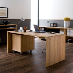 Backside of Office Billy Box and U Table by Ethnicraft