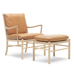 Ole Wanscher OW149 Colonial Chair and Foot Stool by Carl Hansen