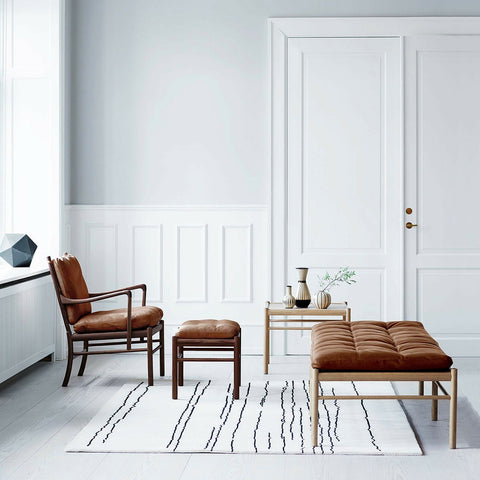 Woodlines Rug White Black | Naja Utzon Popov