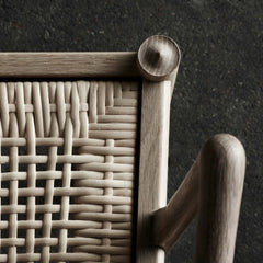 Ole Wanscher Colonial Chair Cain Seat Detail Carl Hansen and Son