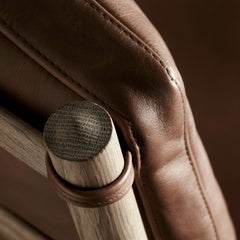 Ole Wanscher Colonia Chair Oak Frame and SIF Leather Detail