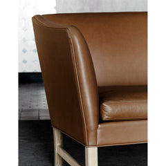 Ole Wanscher OW603 Sofa Brown Leather Arm Detail Carl Hansen & Son