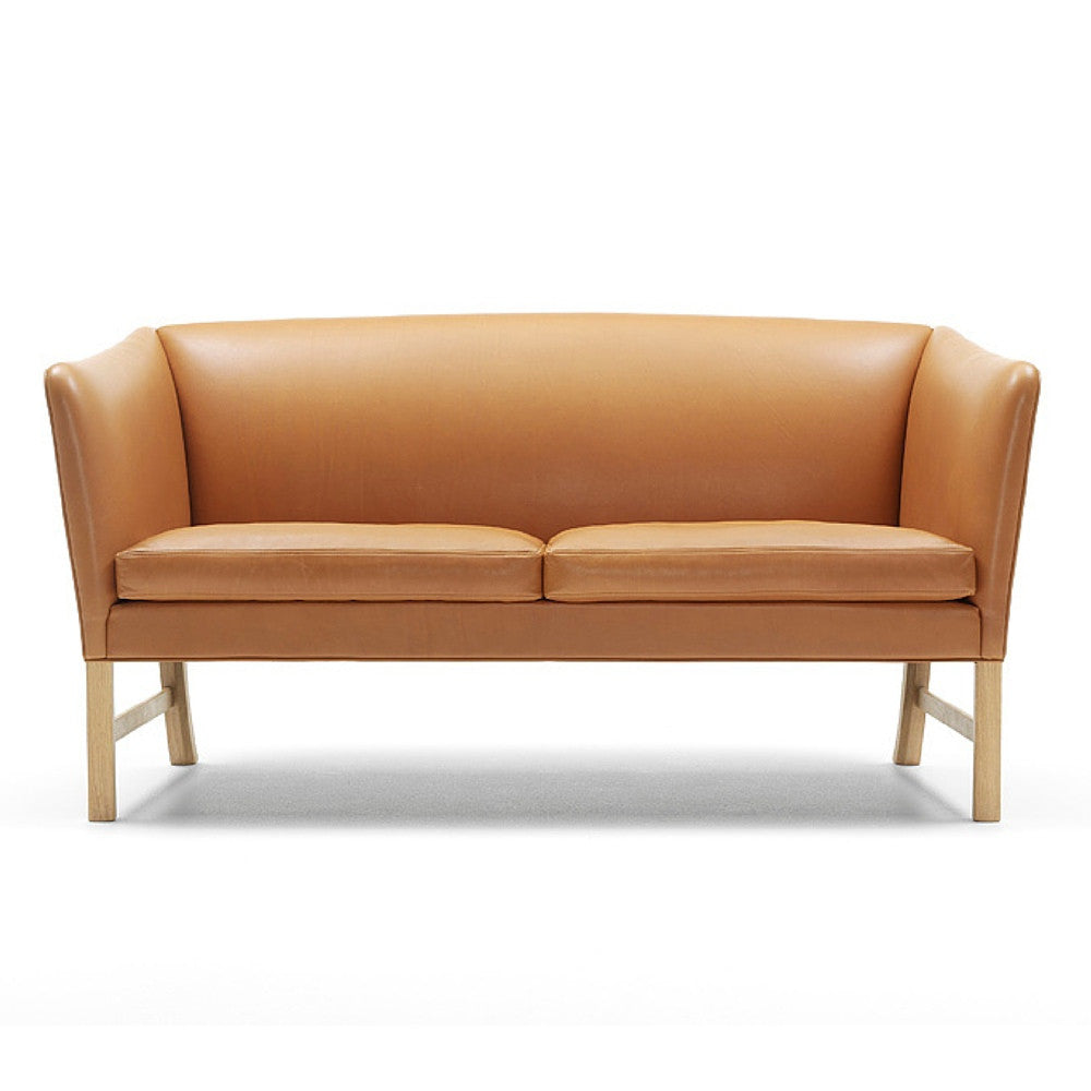 Ole Wanscher OW602 Two Seat Sofa Leather Front Carl Hansen and Son