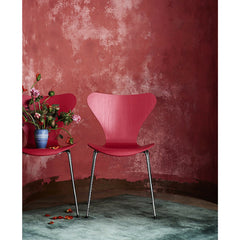 Opium Red Series 7 Chairs in Room by Tal R for Fritz Hansen