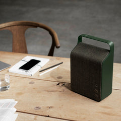 Vifa Oslo Soundspeaker in Pine Green with In Between Chair