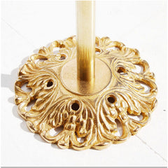 Pelle Brass Candleholder Double Leaf Bottom Detail