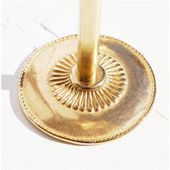 Pelle Brass Candleholder Single Leaf Bottom Detail