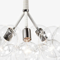 Pelle Designs Glass Globe Bubble Chandelier Closeup Detail