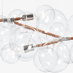 Penne Designs Glass Bubble Chandelier Detail Closeup