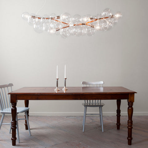 Pelle Long Bubble Chandelier