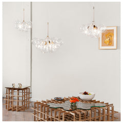 Pelle Designs Bubble Chandeliers in Room