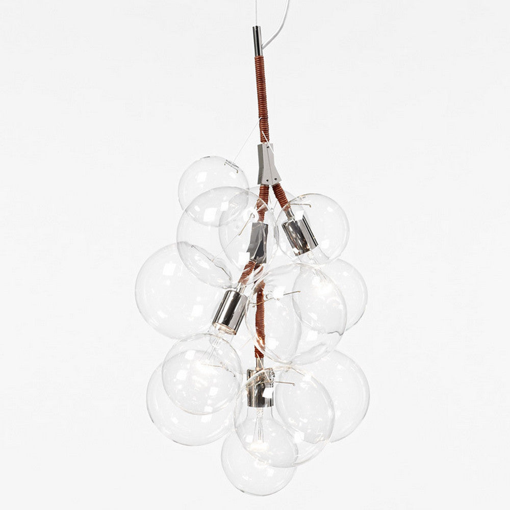 Pelle Designs Pendant Chandelier Natural Leather Cord