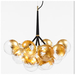 Pelle Designs Glass Bubble Chandelier with Goldleaf Finish