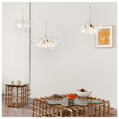 Pelle Designs Handblown Glass Globe Bubble Chandeliers in Room