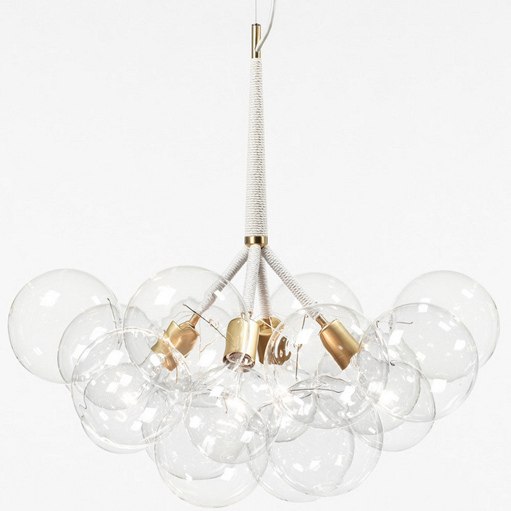 Pelle Designs X-Large Bubble Chandelier Cotton Cord Brass Fittings