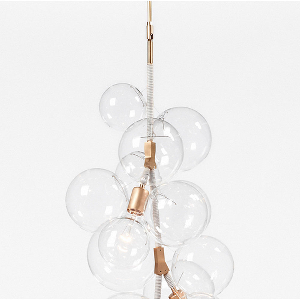 Pelle x tall bubble chandelier modern furniture palette parlor pelle designs x tall bubble chandelier natural cotton cord brass fittings arubaitofo Choice Image